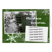 Customizable Tractor Christmas Card: Add a photo Card