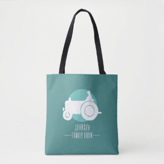 Customizable Tractor Family Farm Tote Bag