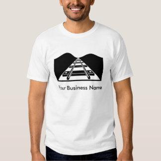 Customizable train tracks business shirt