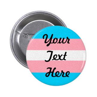 Customizable Transgender Pride Flag 2 Inch Round Button