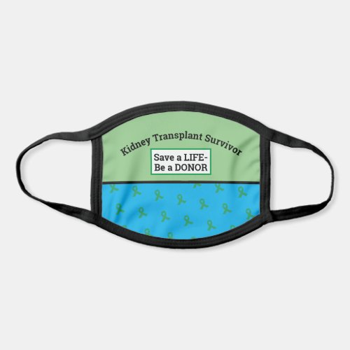 Customizable Transplant Organ Donation Face Mask