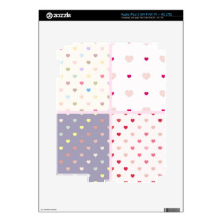 customizable trendy polka dot hearts hearts pink decal for iPad 3