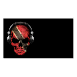 Customizable Trinidadian Dj Skull with Headphones Double-Sided Standard Business Cards (Pack Of 100)