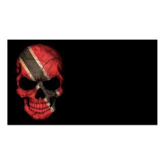 Customizable Trinidadian Flag Skull Business Card