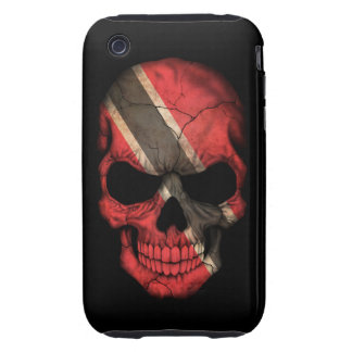 Customizable Trinidadian Flag Skull iPhone 3 Tough Cover