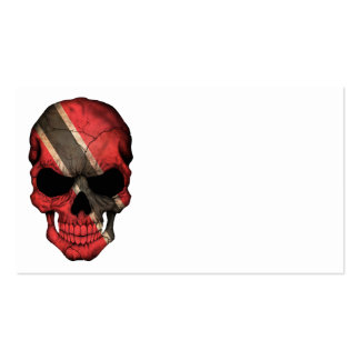 Customizable Trinidadian Flag Skull Double-Sided Standard Business Cards (Pack Of 100)