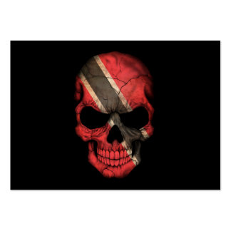 Customizable Trinidadian Flag Skull Large Business Cards (Pack Of 100)