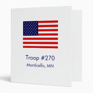 Customizable Troop Binder
