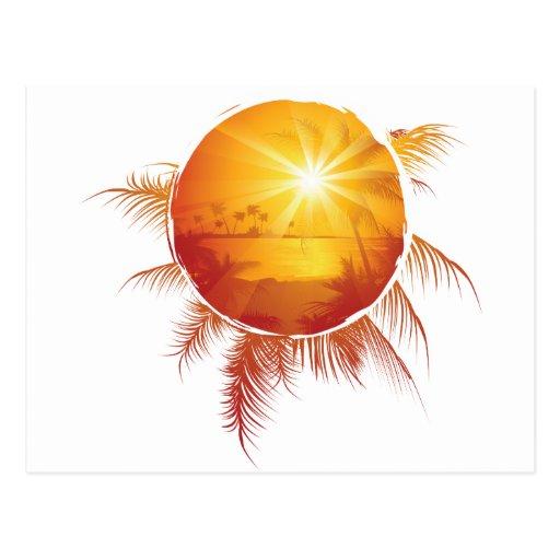 Customizable Tropic Postcard
