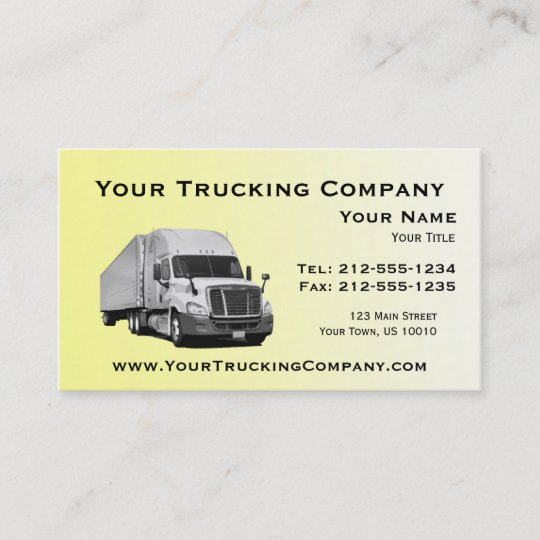 customizable trucking business cards - Trucking Business Cards