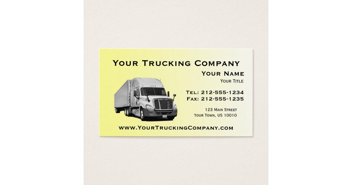 CUSTOMIZABLE Trucking Business Cards   Zazzle.com