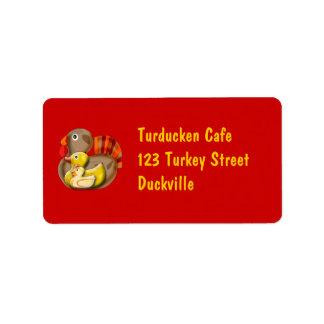 Customizable Turducken Design Label