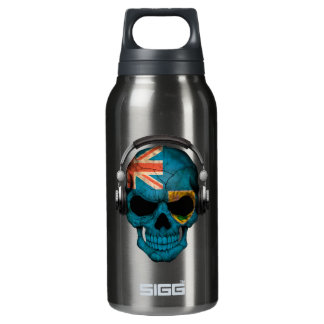 Customizable Turks and Caicos Dj Skull Insulated Water Bottle