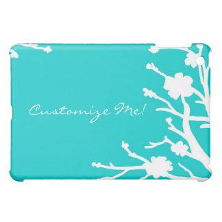 Customizable turquoise theme floral ipad case