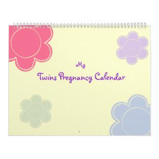 Customizable Twins pregnancy calendar