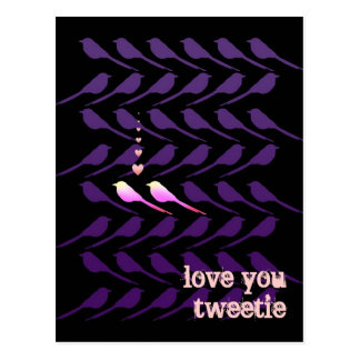 Customizable: Two birds Postcard