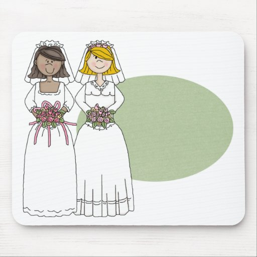 Customizable Two Brides Mugs, Totes and Gifts Mouse Pad