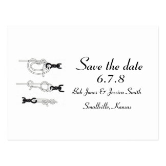 Customizable: Tying the knot - Save the Date Post Cards