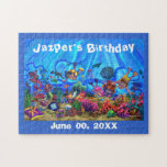 Customizable Under The Sea Birthday Puzzle