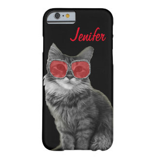 Customizable unique fashion cat with glasses barely there iPhone 6 case