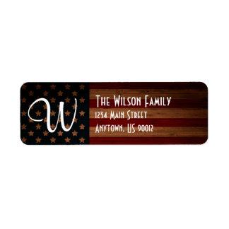 Customizable US Flag Address Label