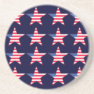 Customizable US Flag Stars Coaster