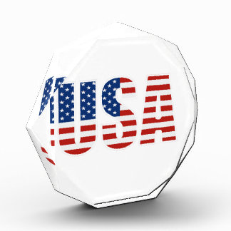 Customizable USA American Flag Acrylic Award