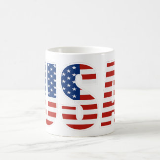 Customizable USA American Flag Coffee Mug