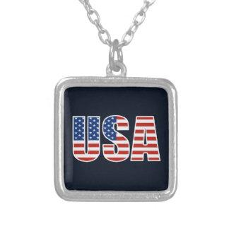 Customizable USA American Flag Pendant