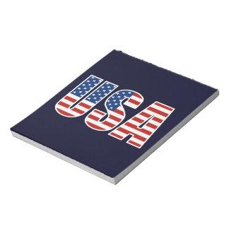 Customizable USA American Flag Scratch Pads