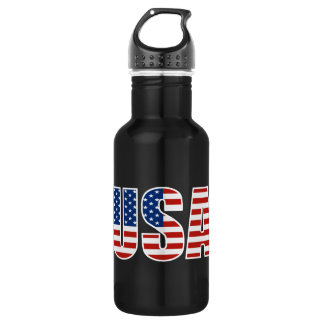 Customizable USA American Flag Stainless Steel Water Bottle