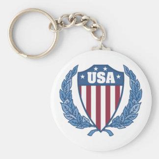 Customizable USA Emblem Keychains