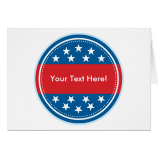 Customizable USA Flag Seal - Blue Greeting Cards