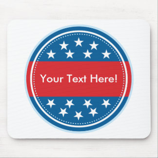 Customizable USA Flag Seal - Blue Mouse Pad