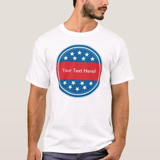 Customizable USA Flag Seal - Blue T-Shirt