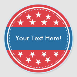 Customizable USA Flag Seal - Red Sticker