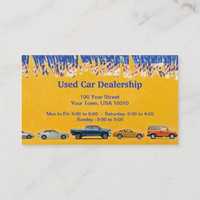 Used car dealer business card zazzle reheart Image collections