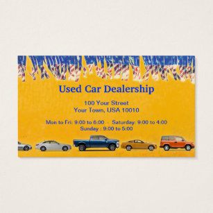 Used cars business cards templates zazzle customizable used car dealer business cards reheart Choice Image