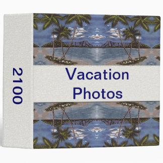 Customizable Vacation Photo Album 3 Ring Binder
