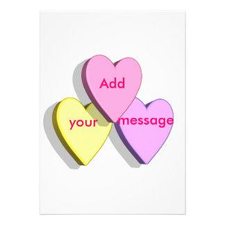 Customizable Valentine Candy Hearts Look Custom Personalized Invitation