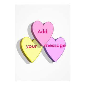 Customizable Valentine Candy Hearts Look Custom Personalized Invite