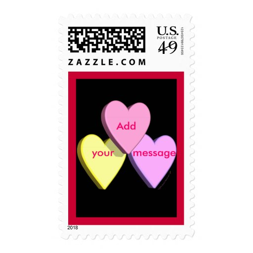 Customizable Valentine Candy Hearts Look Custom Stamps