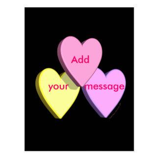 Customizable Valentine Candy Hearts Look Custom Postcard