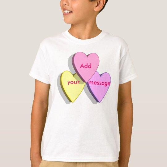 Customizable Valentine Candy Hearts Look Custom T-Shirt