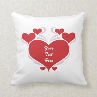 Customizable Valentine Hearts Pillow