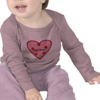 Customizable Valentine Infant Long Sleeve Shirt
