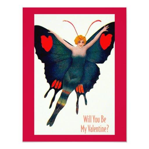 Customizable Valentine 4.25x5.5 Paper Invitation Card