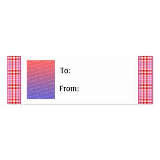Customizable Valentine Photo Gift Tag Mini Business Card