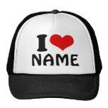 Customizable Valentines Day I love Heart Custom Hat