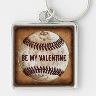 Customizable Valentines Day Presents for Boyfriend Silver-Colored Square Keychain